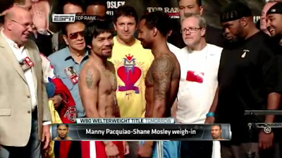 Manny Pacquiao vs Shane Mosley boxing match
