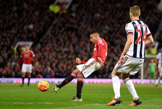 Wonder goal: United relied on a fine long-range strike from Lingard get in front against West Brom