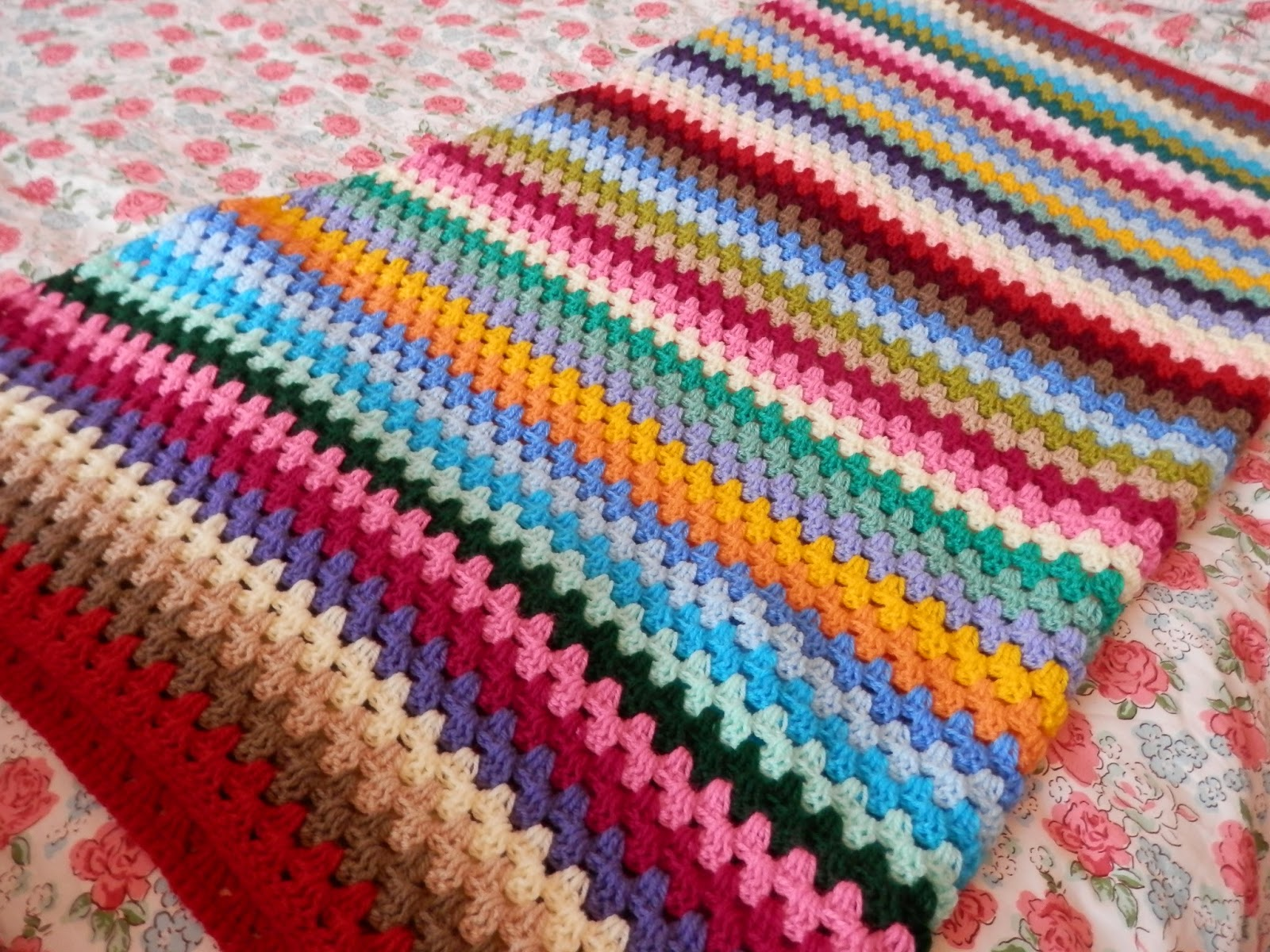 Second Hand Susie: Granny Stripe Crochet Blanket, Attic 24 ...