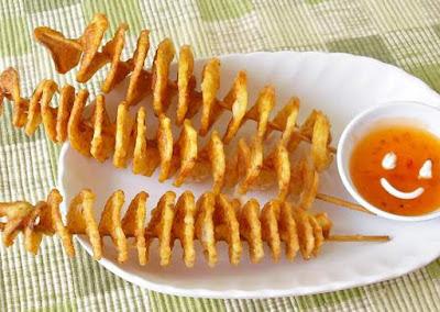 Peluang usaha makanan kentang goreng spiral image
