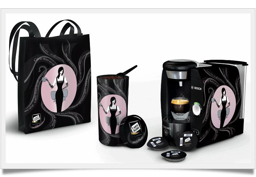 concours chantal thomass relooke carte noire miss chocor ve. Black Bedroom Furniture Sets. Home Design Ideas
