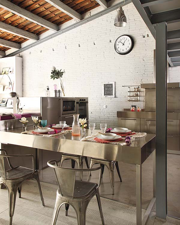 дизайн интерьера, лофт в Барселоне