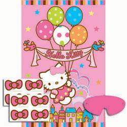 Hello Kitty discount birthday party game - Pin The Bow On Hello Kitty
