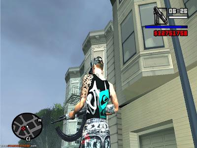 Camisa Da Quiksilver Para GTA San Andreas