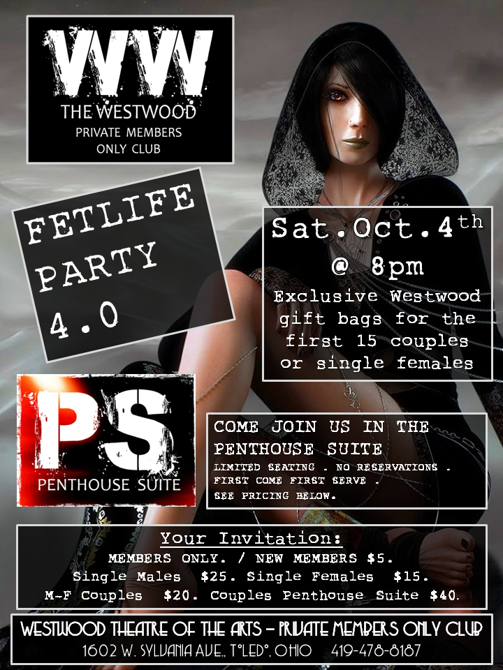 Next Westwood Theater Private Members Only Club Event in Toledo