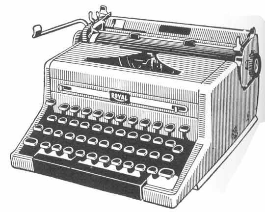 All Cliparts: Typewriter Clipart
