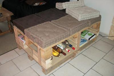 Crafty corner avec des palettes 4 - Construction de meuble en palette ...