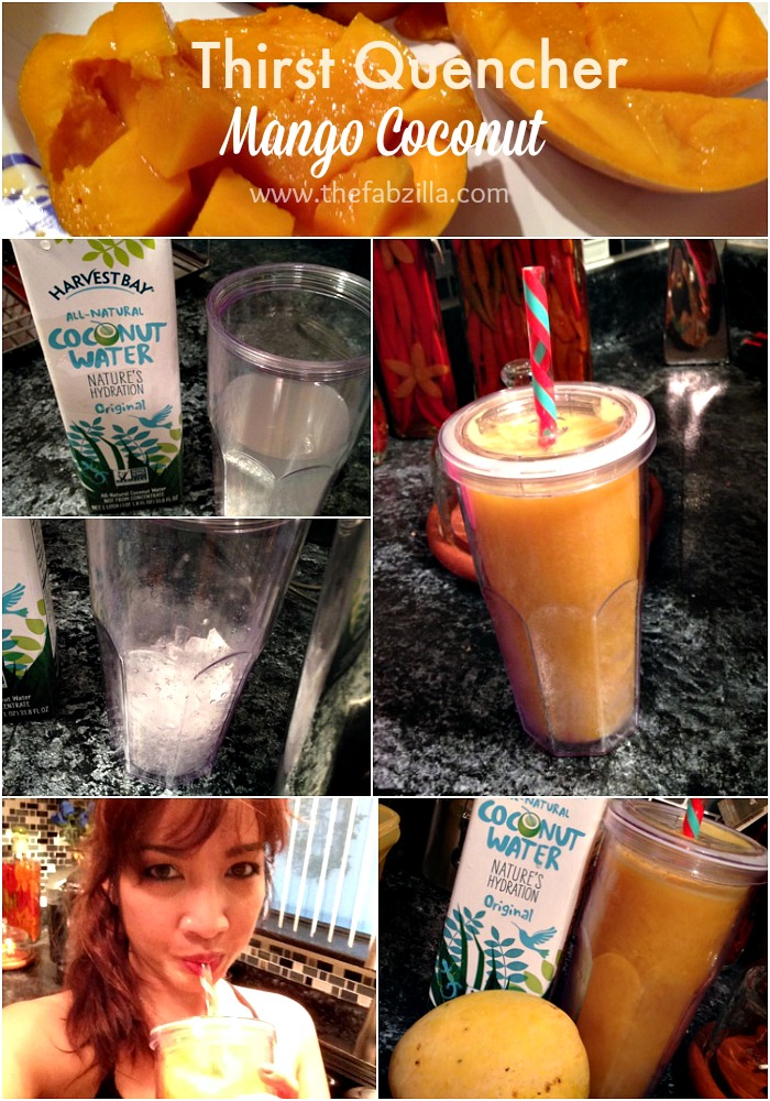 how to make tropical smoothie, mango coconut juice