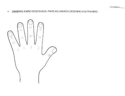 Atividades para o maternal e Educação Infantil - Desenhe a mão
