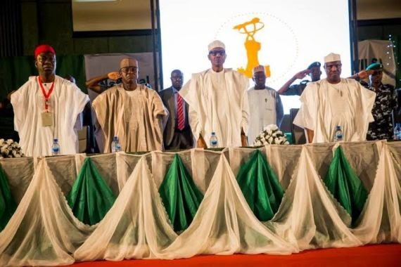 Buhari At The Induction Of New Members Of The 8th National Assembly
