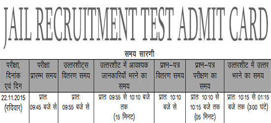 MP VYAPAM JRT Admit Card 2016