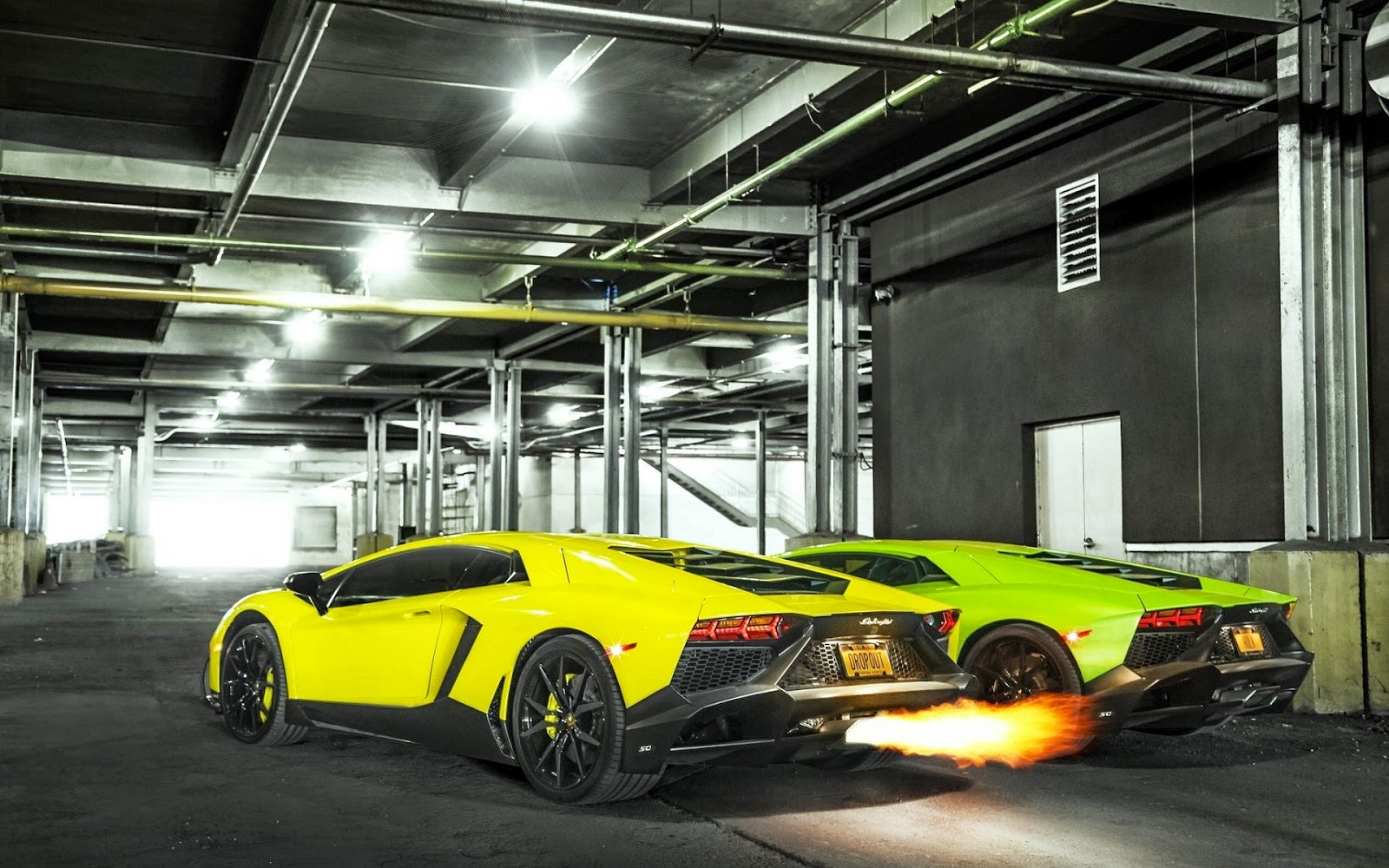 lamborghini-aventador-lp-720-4-yellow-green-cars-fire-wallpaper-1920x1200-www.epichdwallpapers.com