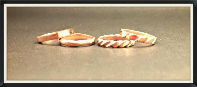 Anillos plata chapados en oro rosa colección An-i-yo Stimuls