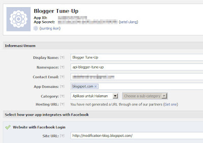 Halaman Setting Aplikasi Facebook