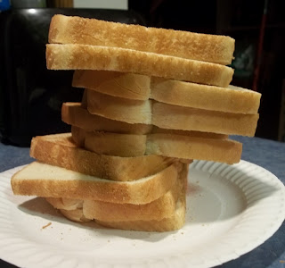 stack of toast bread slices picture