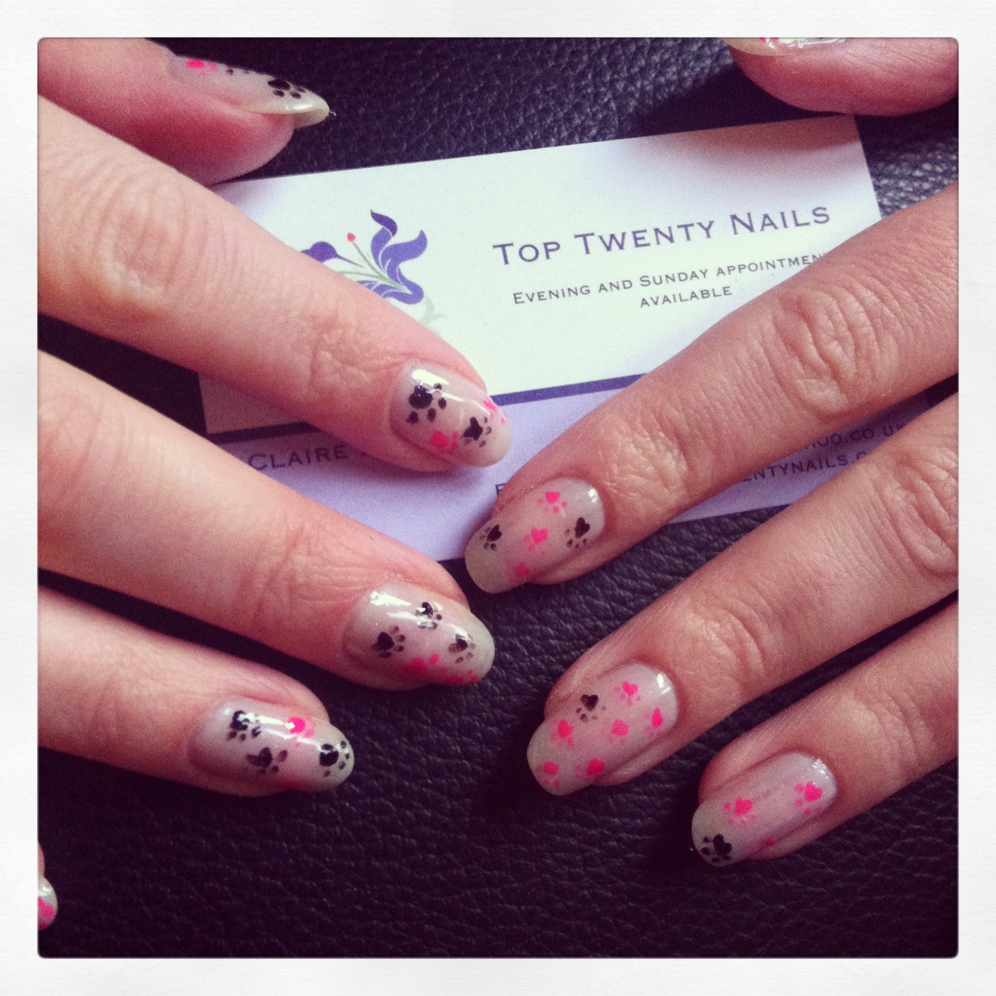 TopTwentyNails: Animal Paw Print Nail Art - Using OPI, Chanel ...
