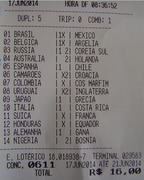 GAÚCHO DA FRONTEIRA - LOTECA 611