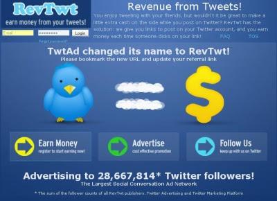 Cara mendapatkan uang dari RevTwt