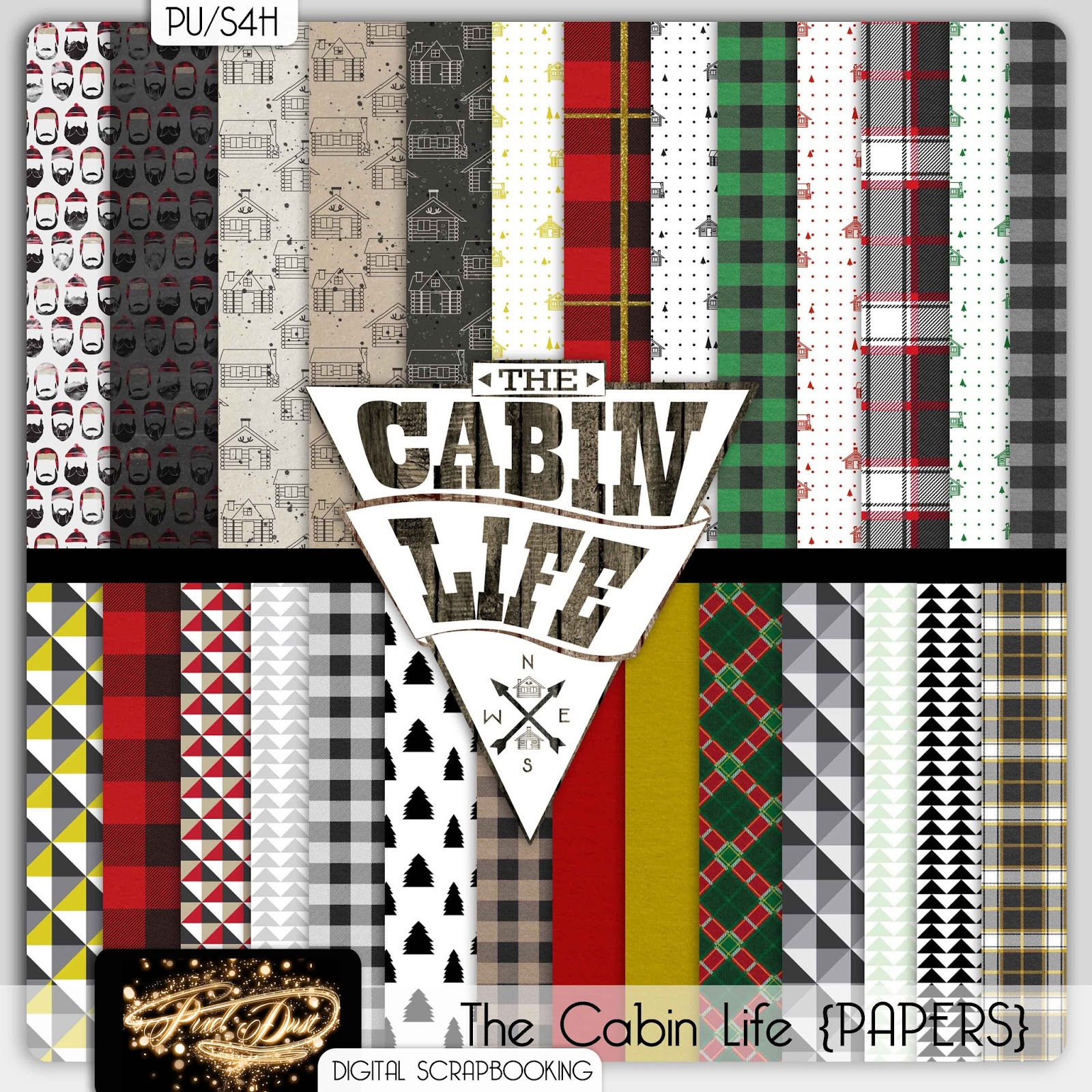 Digital scrapbooking kits free all about scrapbooking ideas - The Cabin Life Free Mini Digital Scrapbooking Kit