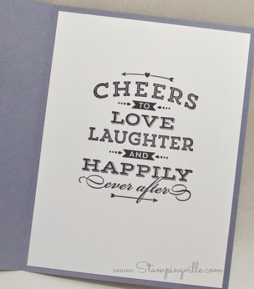 Cheers to Love, Laughter and Happily Ever After - Stampin' Up!