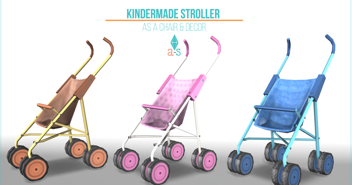Sims 4 CC's - The Best: Chair & Deco Stroller by Leo Sims