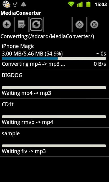Mp3 Media Converter Android Apk resimi 1