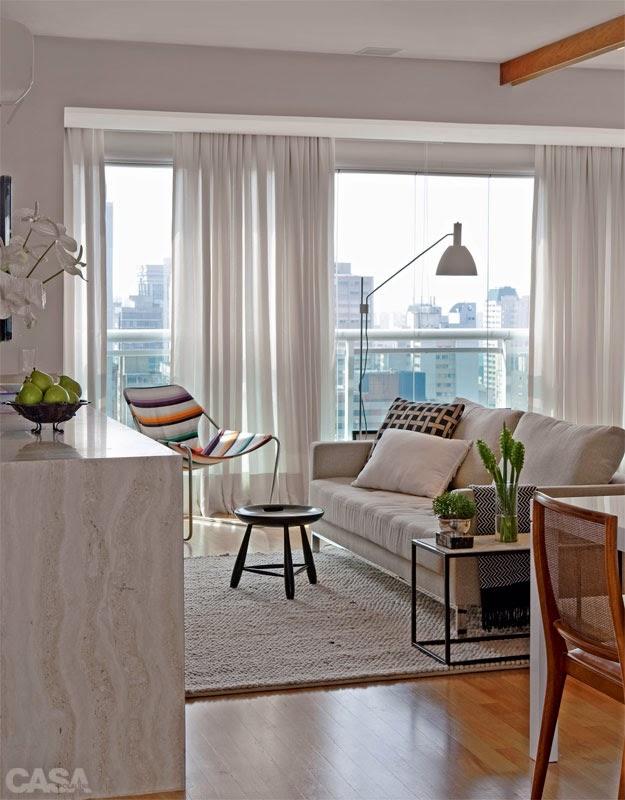 Blog achados de decora o pequeno apartamento decorado for Salon petite surface