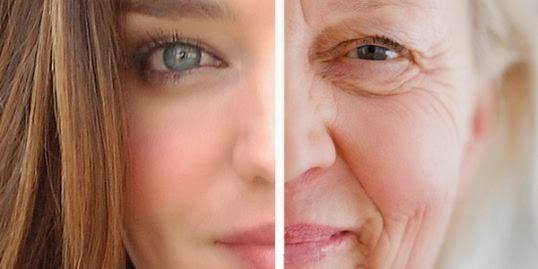 wajah kelihatan lebih tua