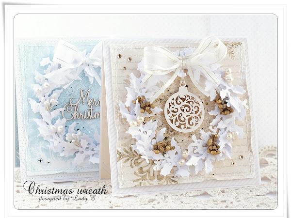 Christmas wreath + Tutorial / Świąteczny wieniec + kursik