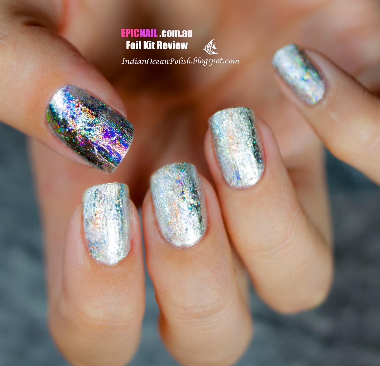 Indian Ocean Polish: Review: Epicnail New Nail Foil Kits! \