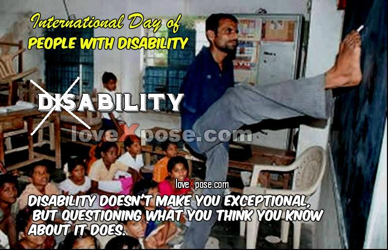 Disability Handicapped Day slogan Quotes