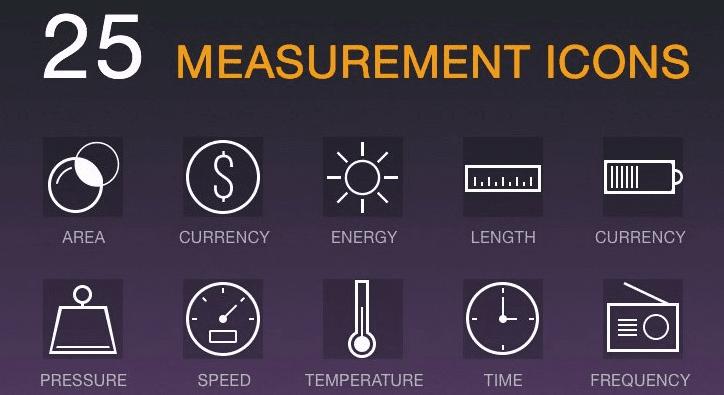 Measurement Icons PSD