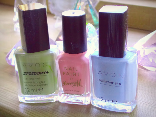 Spring 2013 pastel nail paint, barrry M / Avon