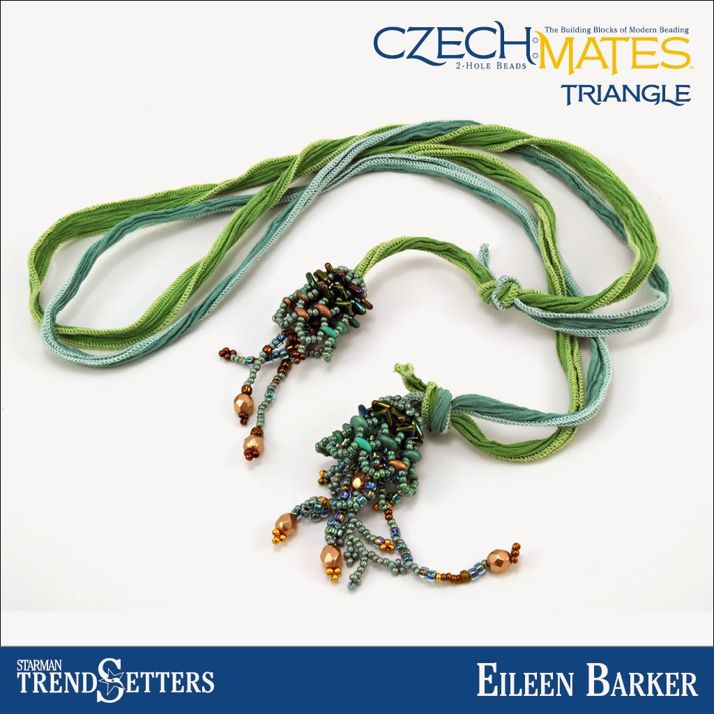 CzechMates Triangle necklace by Starman TrendSetter Eileen Barker