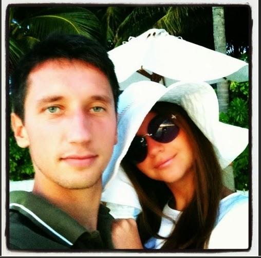 Денис Стаховский  с женой