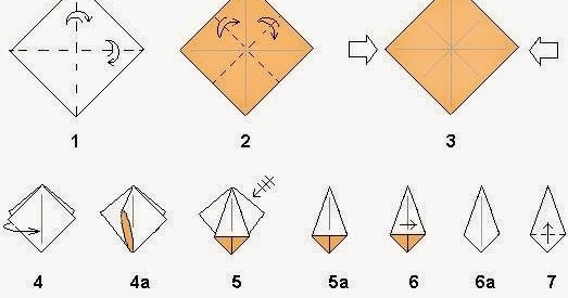easy origami flower instructions step by step