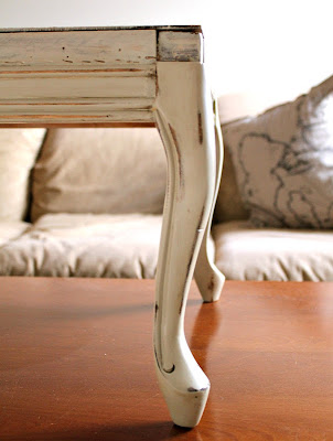 footstool - worn finish