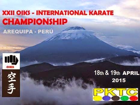 XXII OIKS  INTERNATIONAL KARATE CHAMPIONSHIP Arequipa-Perú
