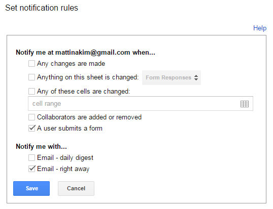 how to see responses to google form