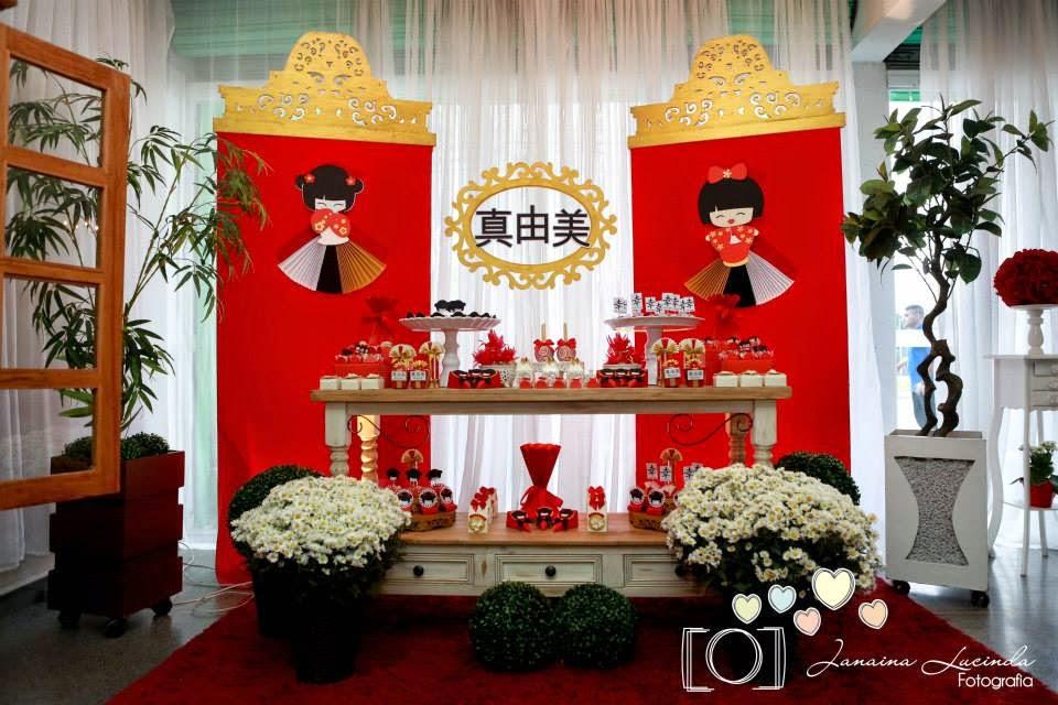 decoracao festa kokeshi:Ateliê Festa Provençal: Festa Kokeshi para Sara Mayumi
