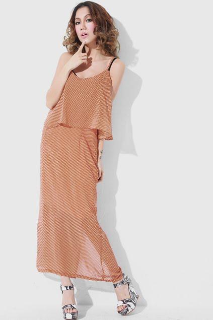 Cape Cut Design Khaki Dress