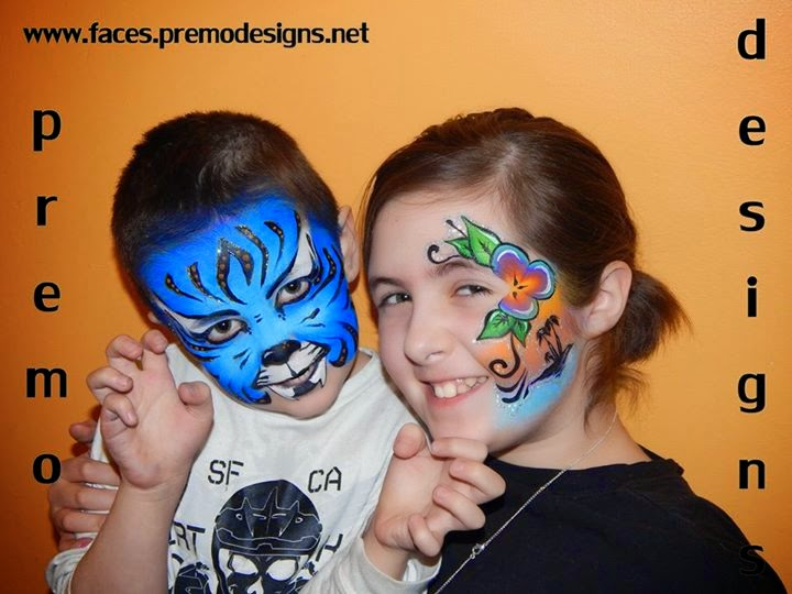 Premo Designs Tiger and Sunset Face Paint