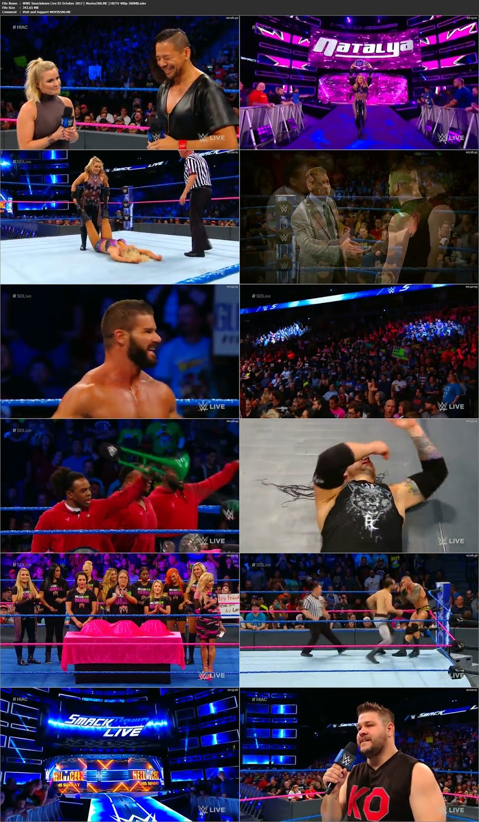 WWE Smackdown Live 03 October 2017 HDTV 300MB Download 480p