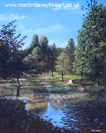 oil painting Southampton Hillier Gardens late summer