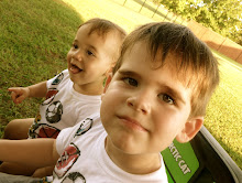 The little men in our lives..Toby (3) and Nate (1)