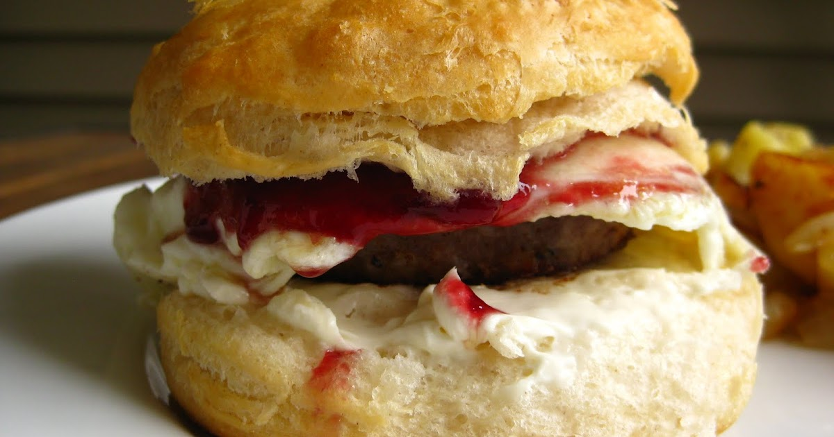 Taste of Home Cooking: Sausage Biscuit Sandwiches