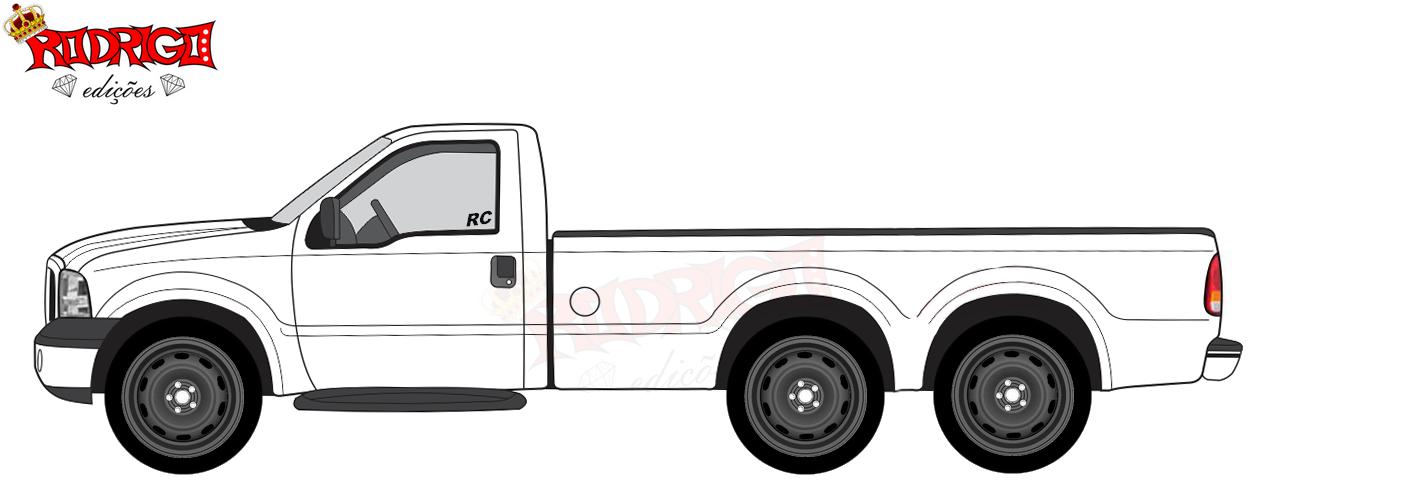 Crie seu carro Designers F250 6x2 3 Eixo