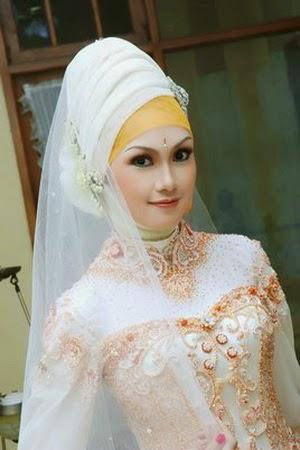 Model jilbab modern untuk pengantin berkebaya | Seribu Hijabers