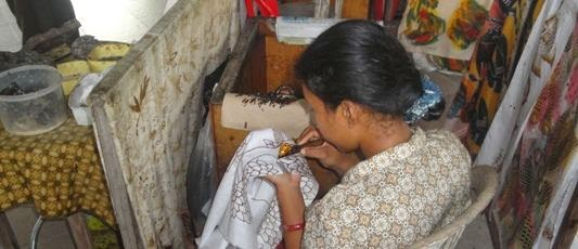 Batik Hand Weaving - Batubulan, Village, Gianyar, Bali, Holidays, Tours, Attractions