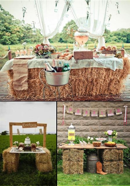Balas de paja para decorar tu boda